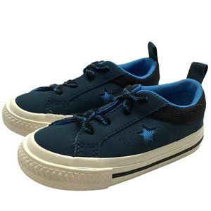 Converse One Star Ox Blue Black Suede Sz 7 Toddler